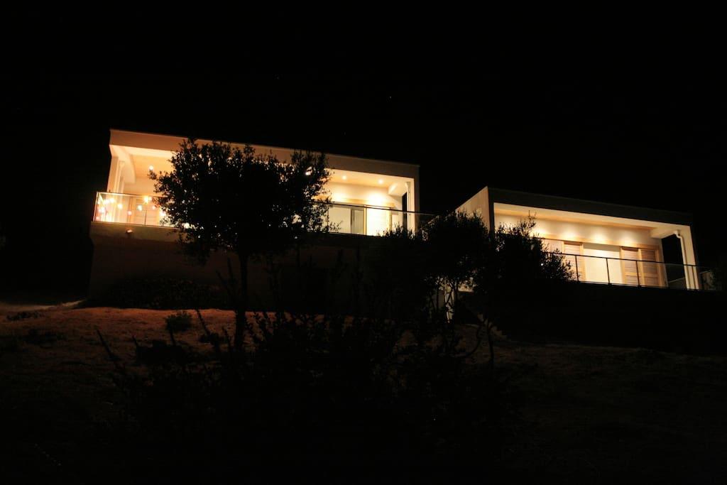 Villa éclairée
