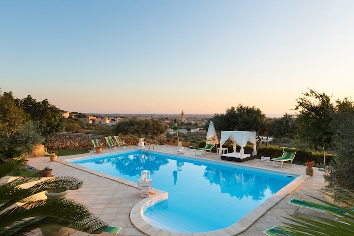 Villa with 7 bedrooms in Marsala, with wonderful sea view, private pool, furnished terrace - 5 km from the beach