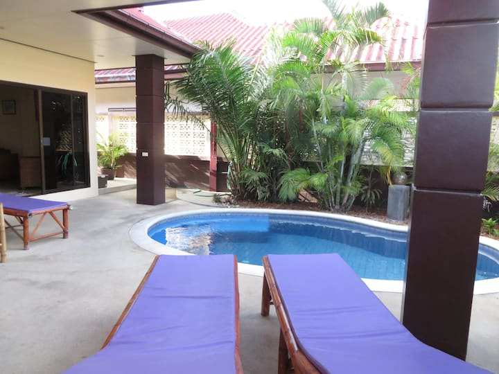 Lamai Baan Sabai, piscine, plage 250 m, 3 chambres