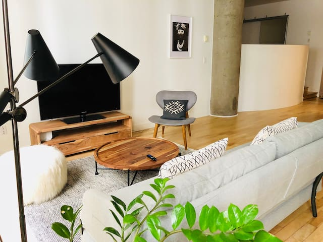 Mid-Century Modern Loft in Downtown Montreal