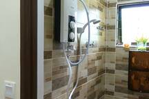 Hot shower is available