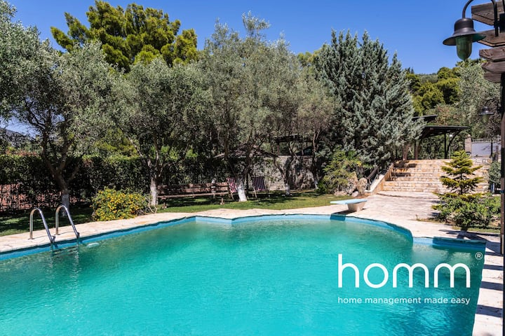 Stay homm®Villa in Keratea with Private Pool 15ppl