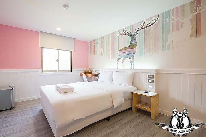 墾丁大街-附早餐*308墾丁鹿凱森旅店-標準有窗雙人房-獨立衛浴 - Hengchun Township - Apartment