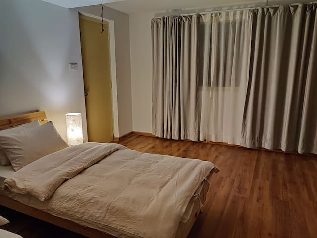 Penthouse in an unconventional hostel near Patan