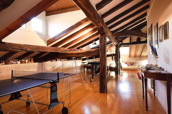 Central 70 sq m Loft Room in Bilbao