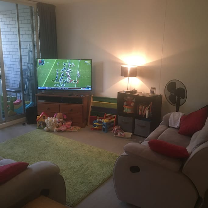 """50"""" TV with Foxtel + Sports.  DVD Player & Playstation 3"""