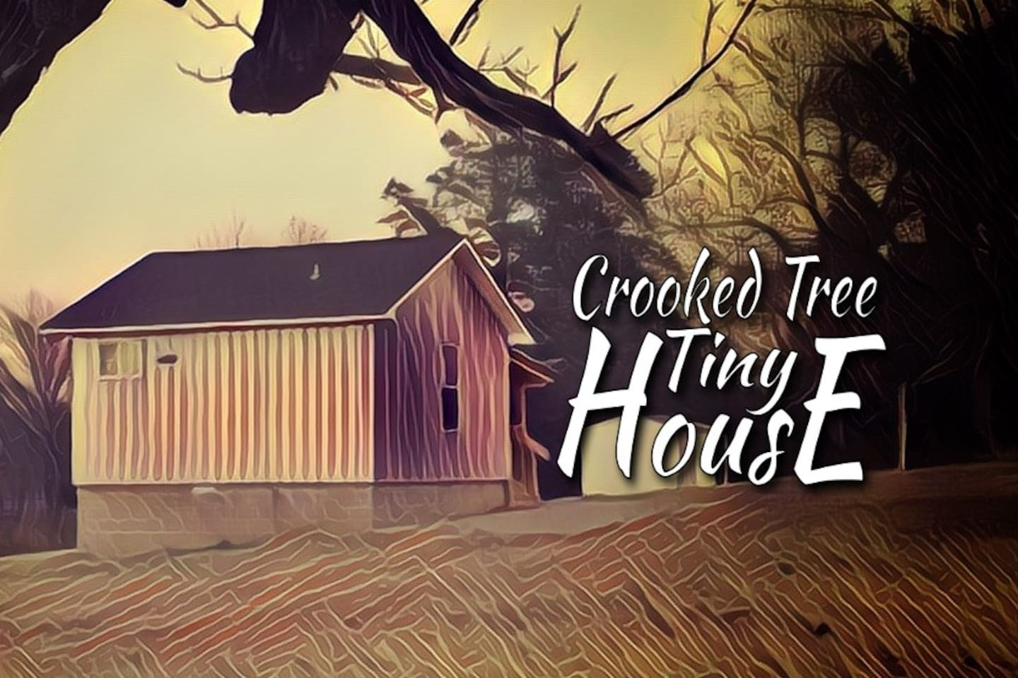 Stylized picture of the tiny house.