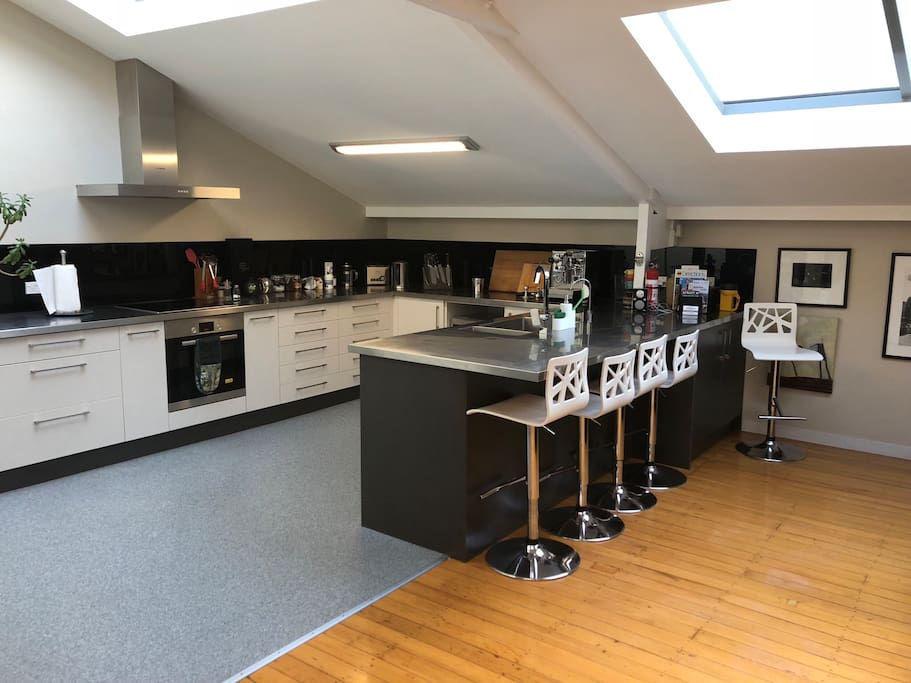 Total modern fully equipped kitchen microwave and oven