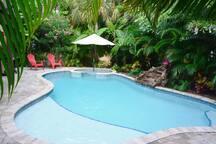 Tropical heated pool