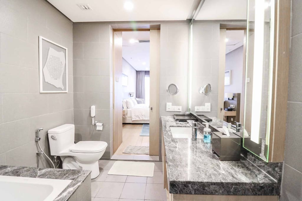 Attached bathroom which is convenient for guests