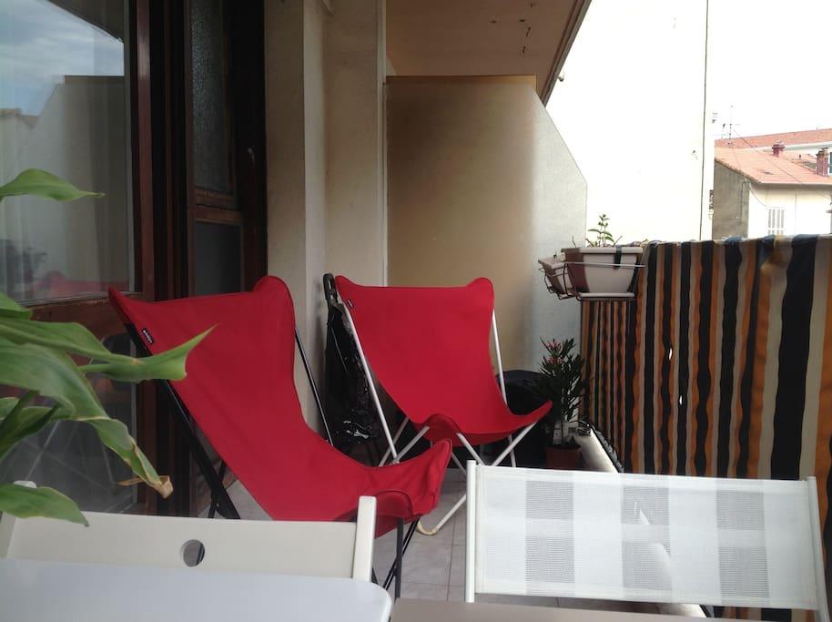 Terrasse . 2 transats