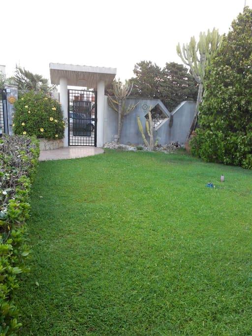 ingresso con giardino