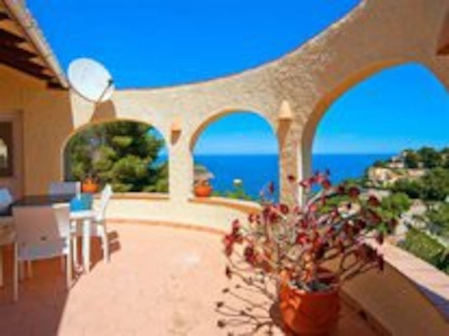 Terrace with beautiful view over the Mediteranean