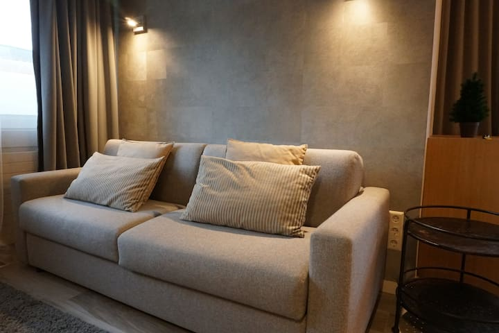 We have a very comfortable and absolute high quality bedsofa, on which you'll sleep very well
