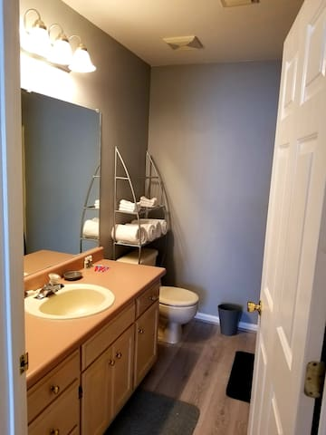 Your very own private bathroom with full bath.