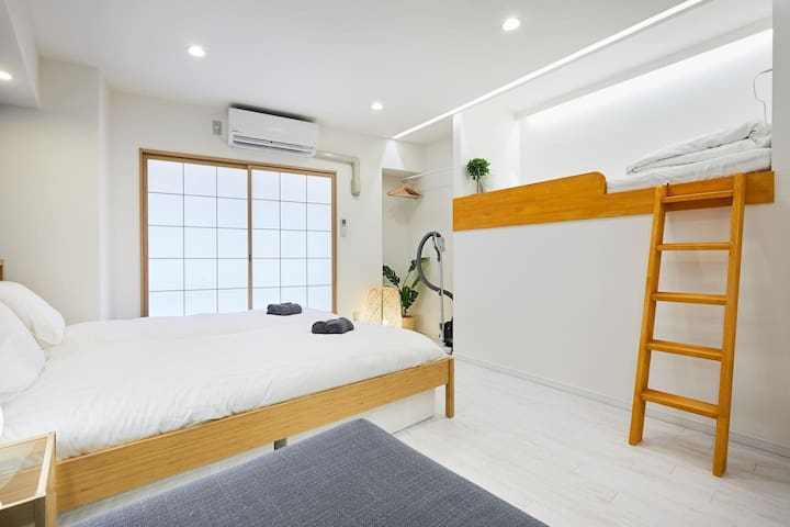 C#32★4人房,歌舞伎町新宿中心★觀光和購物的地點★免費的携帯WiFi
