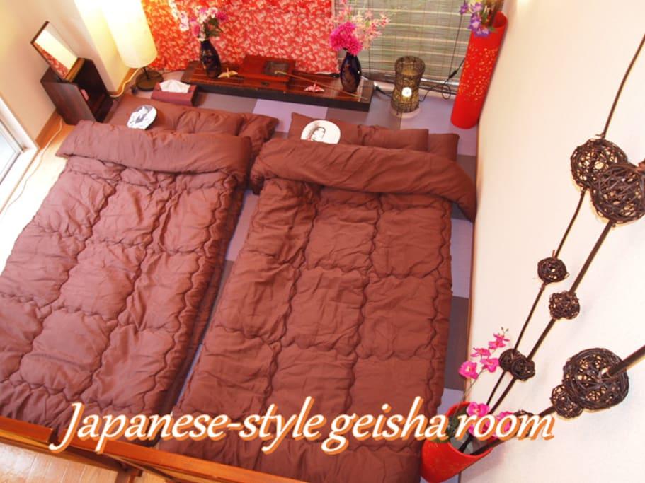 Japanese-style geisha room /艺妓日式房间/게이샤 일본식 방/Camera di stile giapponese di geisha/花魁イメージ部屋