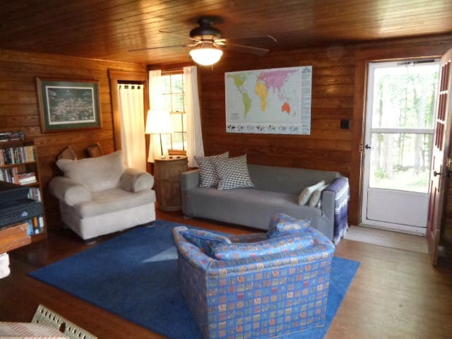 Historic year-round cabin along lakeshore