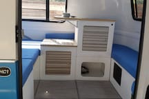 Kitchen sink and bedside table option (available with 1 or 2 Twins OR A Full  OR a Queen size bed set up)