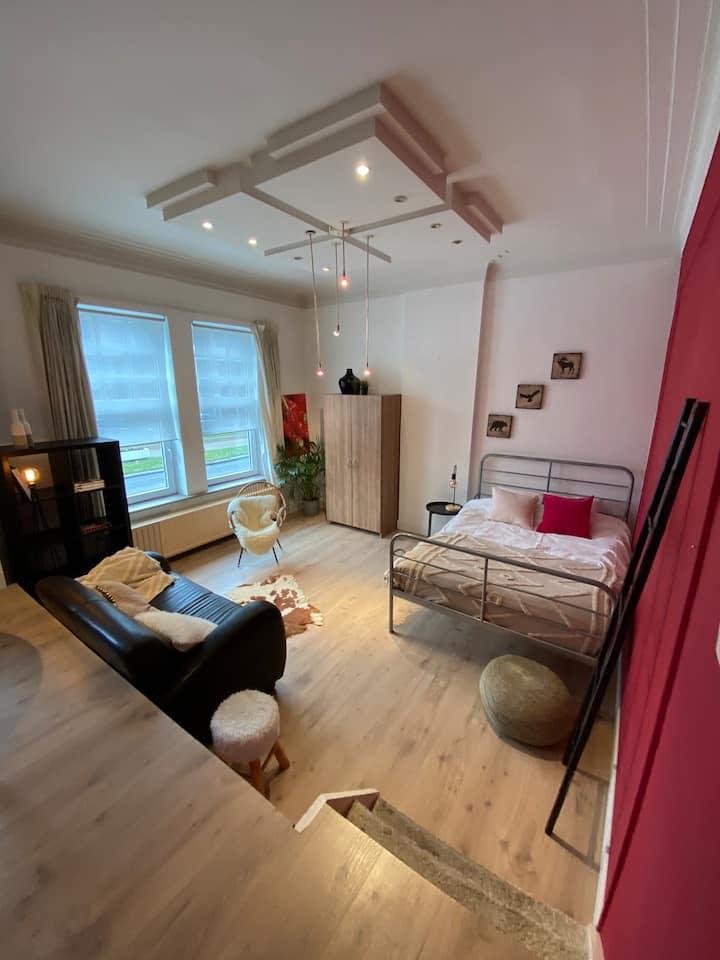 Grote privé kamer in herenhuis centrum Hasselt