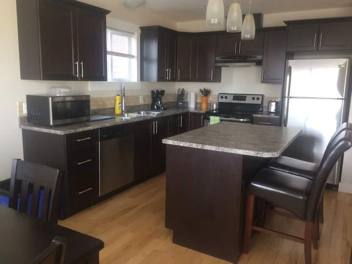 Beautifully furnished 3 bedroom and 2 bath duplex