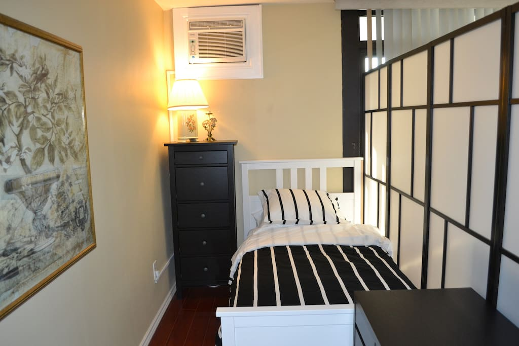 Private Twin Bed in Living Room