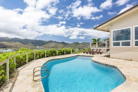 New Listing! Hale Maunalua - Views & Pool, Walk to Beach