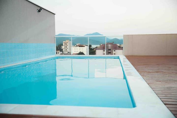 Home Studio 1 Ubatuba- SP- Praia Itaguá- Flat Novo