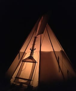 Authentic tepee experience in untouched nature