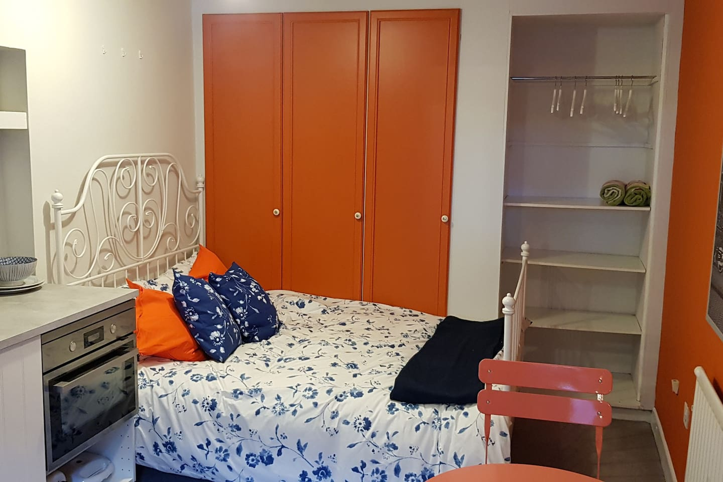 Comfy double bed with storage