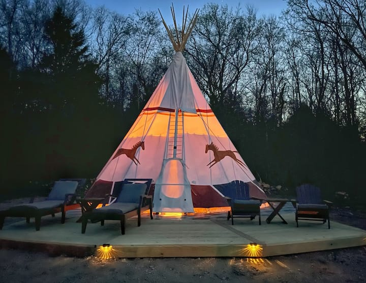 NEW! Tipi with River Access, The Posh Pony