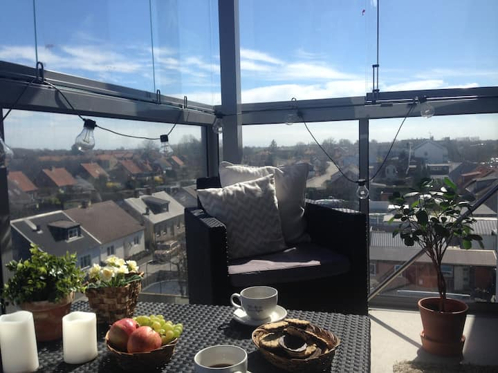 Kids-friendly apartment with a view