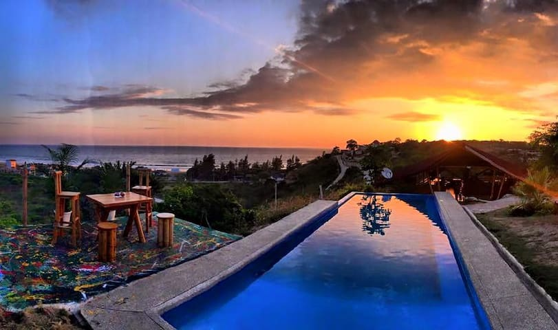 Shared Room with sea view - Montanita - Bed & Breakfast