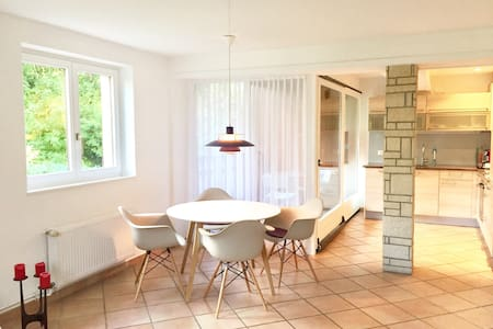 chic, bright apartment in the country, near Basel