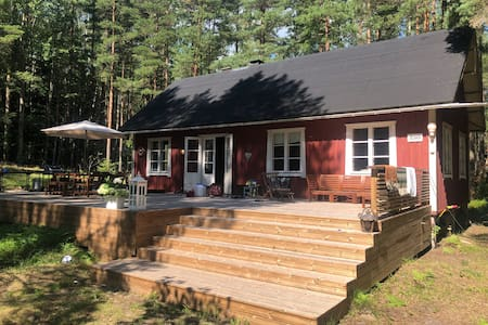 Traditional island cottage near Hanko