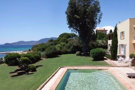 Beachfront villa near St Tropez