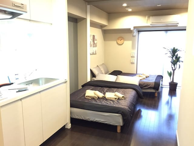 NEW Built! Close to Namba  + Wi-Fi - Naniwa-ku, Osaka-shi,  - Huoneisto