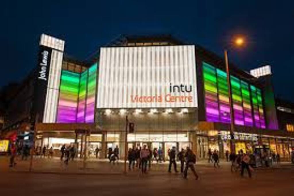 Entrance to the Shopping Centre - night view