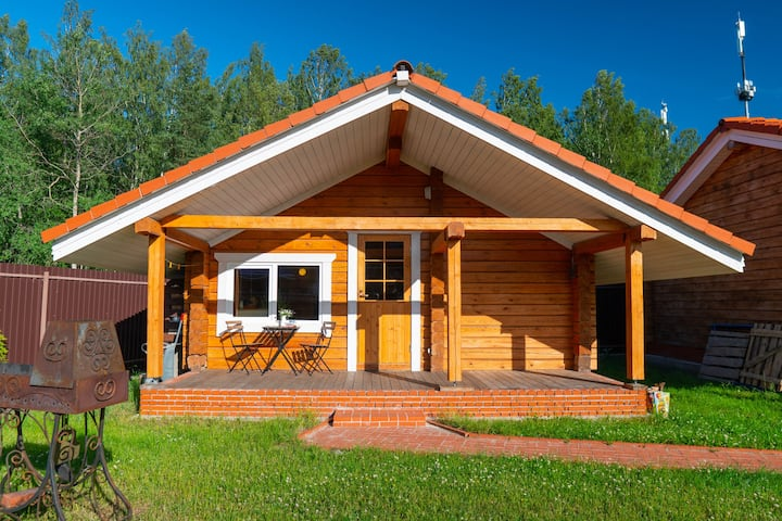 Деревянный дом+безлимитная баня+час от центра