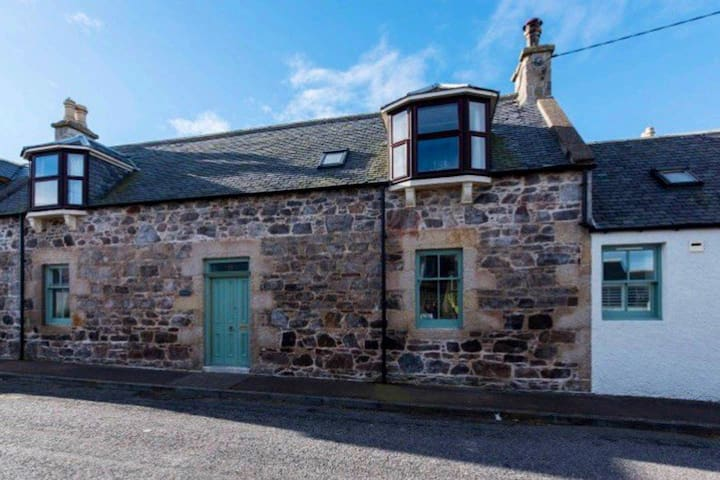 Fisherman's cottage on pretty Moray coastline