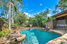 Our Private Resort Style Pool Guests are welcome to use the pool and BBQ. Pool towels are supplied in the apartment.