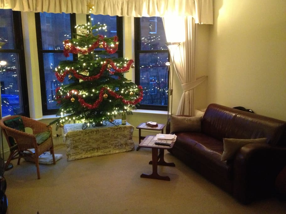 Living room. Christmas Tree not included, except in December.