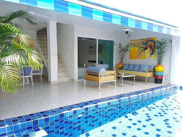 3 Beds duplex with private pool at Bang Por beach