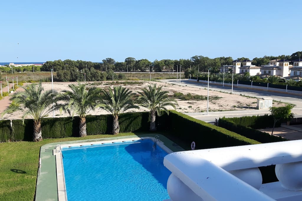 View of the swimming pool from terrace