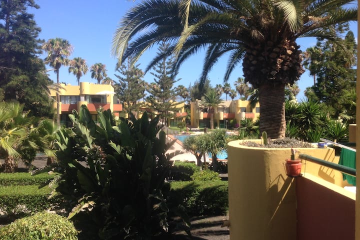 Corralejo, apartment with a garden.