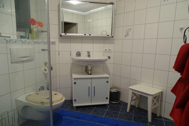 Ferienwohnung findus, (Kempten-Haldenwang), Ferienwohnung, 60qm, 1 Schlafzimmer, 1 Wohn-/Schlafraum, max. 5 Personen