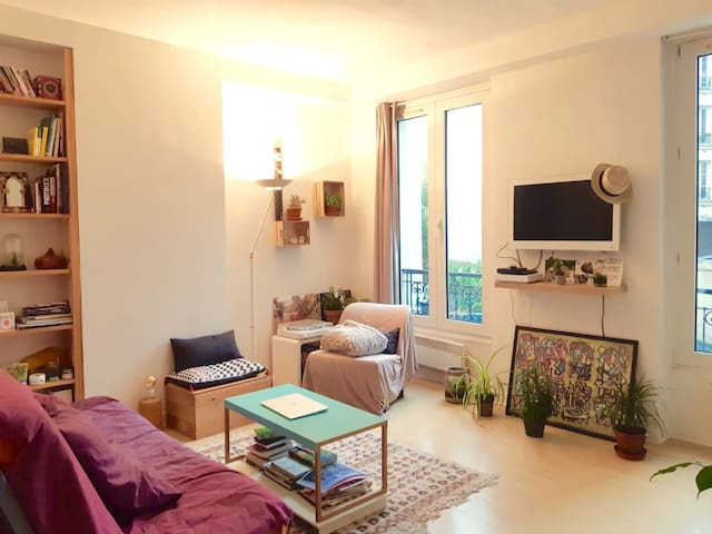 Cosy studio in the heart of Belleville