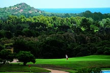 Is Molas Golf Resort is one of the most important in Italy. Hole 10 and 11
