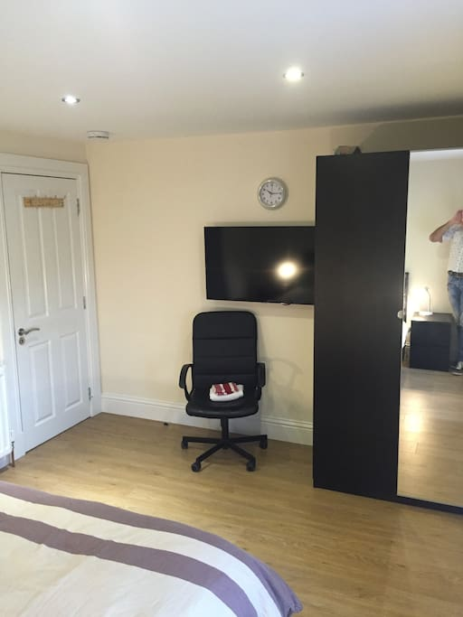 space for desk wardrobe tv etc