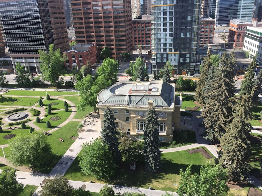 Calgary's oldest park and library.